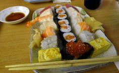 Okuyama no Sushi Kolosy tér Budapest, Sushi, Cheese, Ethnic Recipes, Food, Meal, Essen, Hoods, Meals