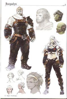 Art of Akihiko Yoshida Final Fantasy Artwork, Final Fantasy Xiv, Fantasy Armor, Fantasy Character Design, Character Design Inspiration, Character Concept, Dnd Characters, Fantasy Characters, Character Illustration