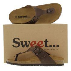 Sweet Womens San Sebastian Sandals - Waxy Brown
