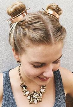 Loving the two buns hairstyle? We've rounded up some double bun hair inspiration that just may make you forget about your old top knot completely.