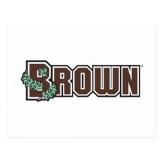 Brown Wordmark Postcard #legging #celebrities #DIY hockey storage, hockey goalie, ice hockey, back to school, aesthetic wallpaper, y2k fashion