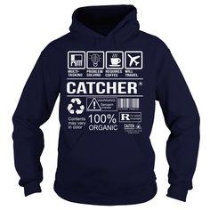 (New Tshirt Design) Awesome Tee For Catcher [TShirt 2016] Hoodies, Funny Tee Shirts