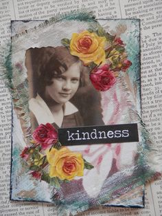 ACEO ATC one-of-a-kind Original Kindness Artist by PaperPastiche