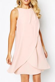 Pink Ruffles Sleeveless Sundress