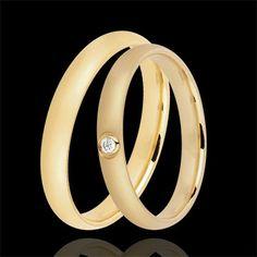 PROMO $625 euro Coppia Fedi Nuziali Duna 1 diamante