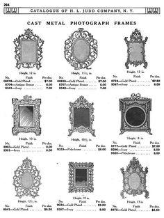 H L JUDD CO., N.Y. cast metal photograph frames, Catalogue No. 50, January 1913, pg. 294.
