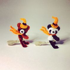 Trick or Treat! いたずらの準備はいいか〜! #pipecleaner #pipecleaners #art #panda #craft #bear #halloween #パンダ #モールアート #アート #手作り #くま #ハロウィン