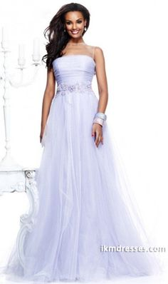 2015 Gorgeous Prom Dresses A Line Scoop Sweep/Brush Tulle Turquoise Party Dresses http://www.ikmdresses.com/2014-Gorgeous-Prom-Dresses-A-Line-Scoop-Sweep-Brush-Tulle-Turquoise-Party-Dresses-p80902
