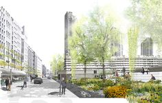 Anerkennung Aufgabe C / Karl-Foerster-Anerkennung: Öffnung - und neue Erschließung  des Barbican Centres
