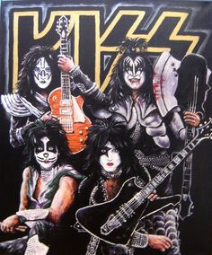 KIZZ by gotlandsrickard Kizz Band, Kiss Group, Kiss Rock Bands, 80s Icons, Cartoon Clip, Kiss Art, Kiss Pictures, Band Wallpapers, Heavy Metal Rock