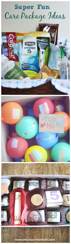 I just love these super fun and creative care package ideas. Make someone's day