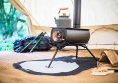 ポータブルでテント内にインストール可能な薪ストーブ