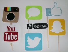 Photo Booth apoyos Social Media / Snap Chat por CustomCreativeCraft