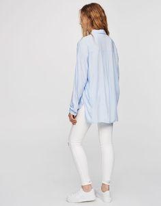 Chemise basic oversize - Blouses et chemises - Vêtements - Femme - PULL&BEAR France