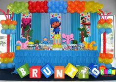 Baby First Birthday, 3rd Birthday Parties, First Birthday Decorations, Balloon Decorations, First Birthdays, Party Themes, Erika, Google, Anniversary Decorations