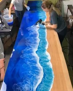 Great to see the process! Epoxy resin pigment/dye is available with promotion on Amazon. Follow us for more daily inspiration. All credit to Roni Langley