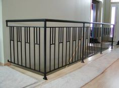 Interior iron railing - Mission style with 1 1/2