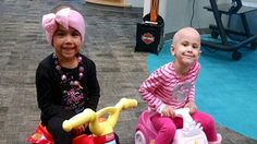 'Amazing': Two little girls become best friends while battling cancer