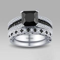 Black Rings Wedding Ring Setsbridal