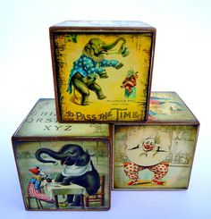 large vintage nursery blocks- might try to make out of DI books...