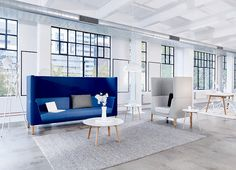 Tailored High-Back is designed to facilitate meetings, interactions and communication while providing space for work and conversations. Made in Melbourne. Couch Furniture, Office Furniture, High Back Armchair, Contemporary Sofa, Melbourne Australia, Lounge, Sofa Ideas, Open Spaces, Design