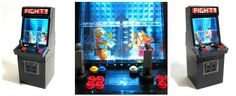 Generic fighting game arcade console made out of Lego by Andrew Lee: