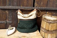 Beautiful one of a kind bag from Eldoku. Kelim ve hemp crochet in combination with leather.