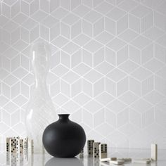3D white wallpaper design