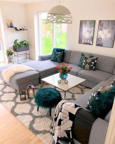 71 new modern apartment living room design ideas page 29 Living Room Color Schemes, Living Room Grey, Small Living Rooms, Home Living Room, Living Room Designs, Modern Living, Cozy Living, Small Apartment Interior, Apartment Living
