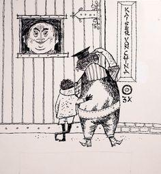 "J. E. Tripp's wonderful ilustrations for the wonderful book ""Jim Knopf und Lukas der Lokomotivführer"" by Michael Ende"