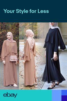 Dress Muslim Modern, Moda Hijab, Abaya Fashion, Fashion Outfits, Hijab Evening Dress, Moslem Fashion, Fancy Dress Design, Mode Abaya, Hijab Outfit