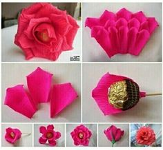 The Effective Pictures We Offer You About fall Paper Flowers A quality picture can tell you many things. You can find the most beautiful pictures that can be presented to you about Paper Flowers cricu Candy Flowers, Tissue Paper Flowers, Diy Flowers, Candy Crafts, Paper Crafts, Chocolate Flowers Bouquet, Gift Bouquet, Candy Bouquet, Valentine's Day Diy