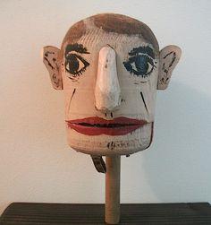 "Primitive Folk Art Ventriloquist ""Vent"" Figure Collection Jim Linderman Dull Tool Dim Bulb"