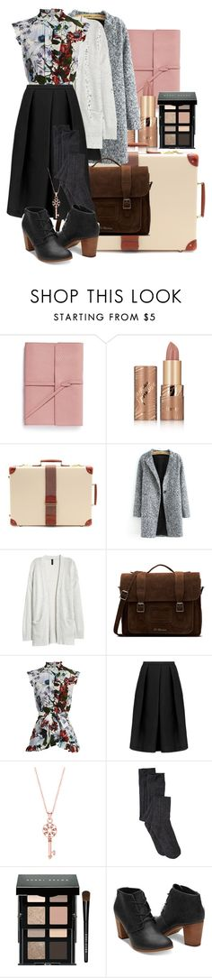 """""""Untitled #113"""" by roosie-728 ❤ liked on Polyvore featuring Bynd Artisan, tarte, Globe-Trotter, Kofta, Dr. Martens, Erdem, TIBI and Bobbi Brown Cosmetics"""