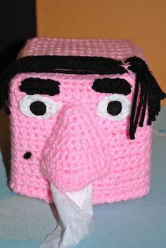Crochet Tissue Box Face: free pattern
