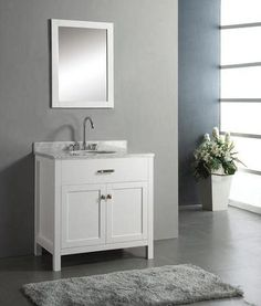 modern white shaker style vanity - Google Search