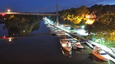 Kingston's Downtown Rondout Waterfront. In Ulster County Upstate New York
