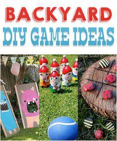 10 DIY Backyard Game Ideas   The Crafty Frugalista