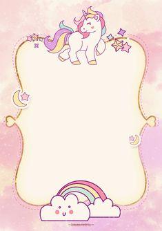Αποτέλεσμα εικόνας για dibujo unicornio y arcoiris infantil