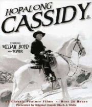 First significant Western to appear on network television was The Hopalong Cassidy Show, which began in 1949. It starred movie-cowboy legend William Boyd as Hopalong, a character he had played in sixty-six movies between 1935 and 1948.  In the Hopalong Cassidy Show on television, Hoppy was still owner of the Bar 20 Ranch and had a sidekick, Red Connors, who was the perfect foil for Cassidy, who, unlike most cowboys heroes, dressed all in black and, with snow-white hair, cut quite a fugure ...
