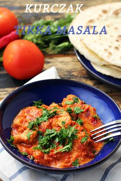 Kurczak tikka masala Tikki Masala, Chicken Tikka Masala, Indian Food Recipes, Good Food, Fun Food, Main Dishes, Food Porn, Food And Drink, Healthy Eating
