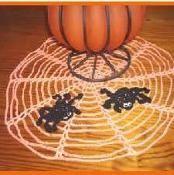 Halloween Spider Doily - via @Craftsy