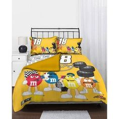 Kyle Busch #18 Full Comforter Set by Northwest. $98.99. Live and sleep sports! The Kyle Busch #18 Full Comforter Set is ideal for the fan who is on top of their game. This bed set features soft comfortable fabric with team colors and logos so everyone knows who your team is.