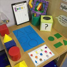 Math activities, maths eyfs, preschool learning, math classroom, teaching m 3d Shapes Activities, Geometry Activities, Teaching Shapes, Teaching Math, Preschool Activities, Nursery Activities, Maths Eyfs, Preschool Learning, Math Classroom