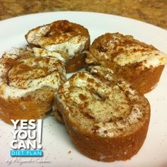 Protein Cinnamon Rolls - A healthy option for your Yes You Can Diet Plan dessert