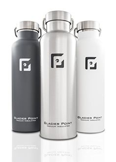 Water Bottles - Glacier Point Vacuum Insulated Stainless Steel Water Bottle  25 OZ  Double Walled Construction Powder Coating Zero Condensation -- Details can be found by clicking on the image.