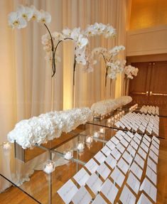 Clean crisp White and wonderful escort table!