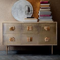 It would be cool to do a funky cabinet like this in one of the bathrooms.  Roar + Rabbit Jeweled 6-Drawer Dresser #westelm