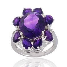 Amethyst 925 Sterling Silver Ring Jewelry Purple by ArihantJewelry