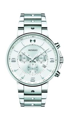 • the world s catalogue of ideas movado men s 0606760 se pilot stainless steel case and bracelet silver chrono dial watch movado
